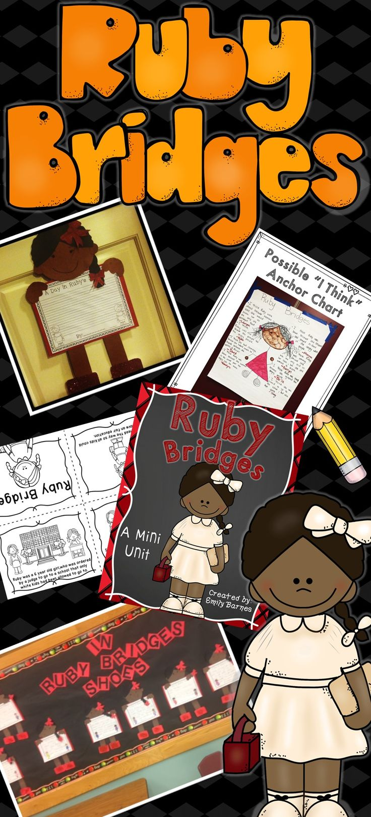 Ruby Bridges Mini Unit 1st Grade 2nd Grade 3rd Grade. Craft, Reader's Theater, writing activities and more