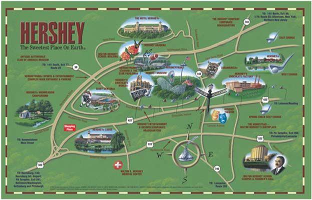 Map Hershey Pa Hershey, PA~~~~map | Places I'd Like to Go | Hershey pennsylvania