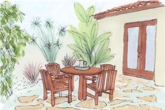 This Patio Planning Guide has all the stats and tips you need to create your new patio - including cost, layout ideas, shapes, lighting, etc. http://www.landscapingnetwork.com/patios/planning.html