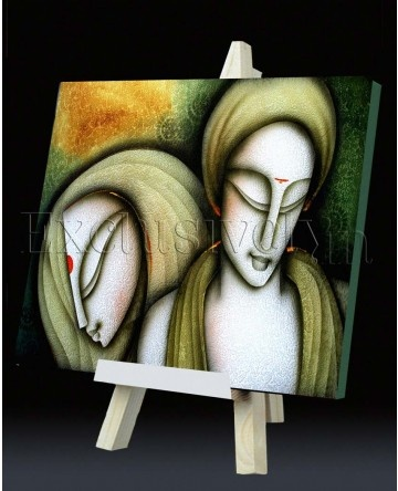 Limited Edition 'Two Figurine' Painting