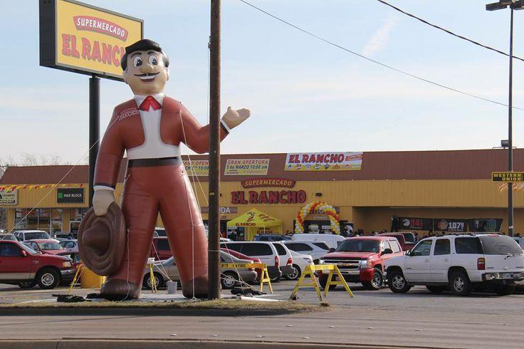 Giant Inflatable Mariachi for Supermercado El Rancho. PromotionalDesignGroup.com