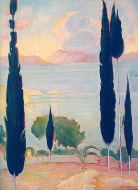 Παρθένης Κωνσταντίνος-Παραλιακό τοπίο Konstantinos Parthenis_Sea landscape