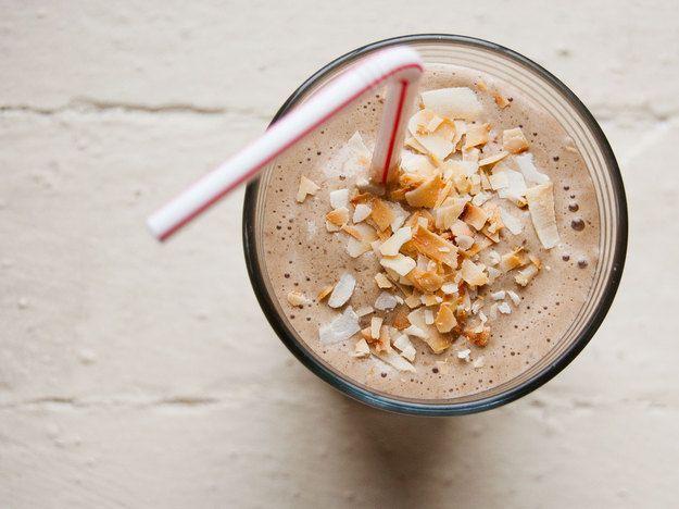 coffee, banana, and hazelnut morning shake