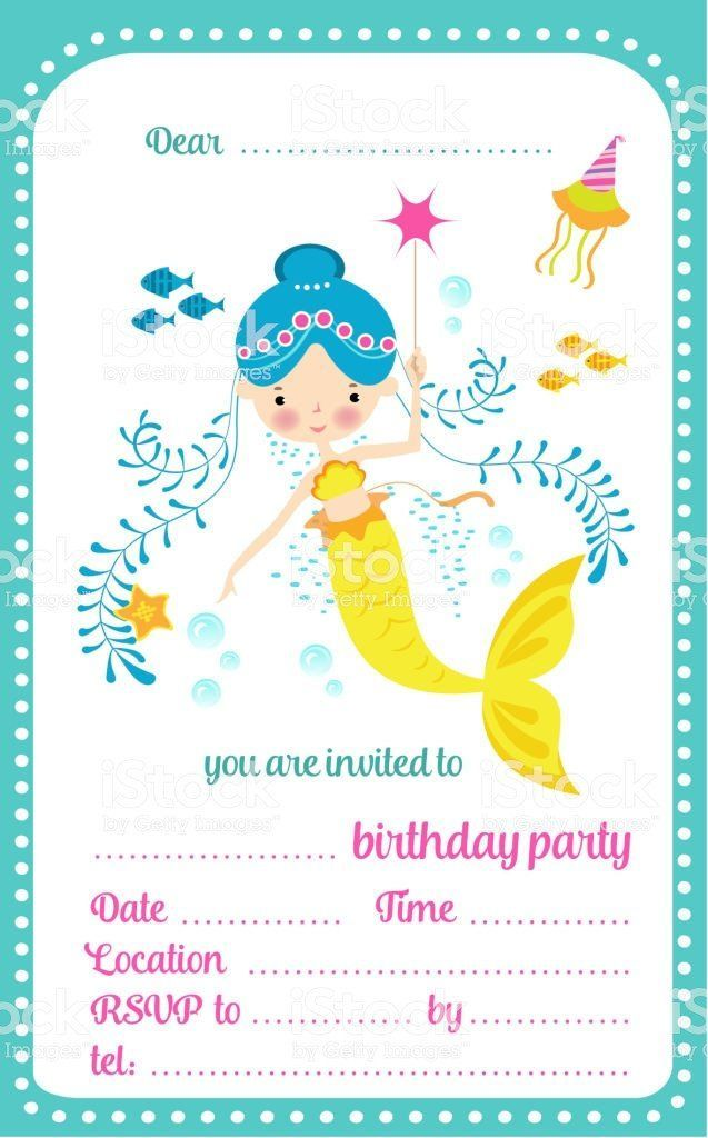 Credit Card Invitation Template Awesome Kids Birthday Party Invitation Template Awes Party Invitations Kids Party Invite Template Mermaid Party Invitations