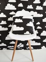Swedish fabric Farg & Form Clouds - Black & White