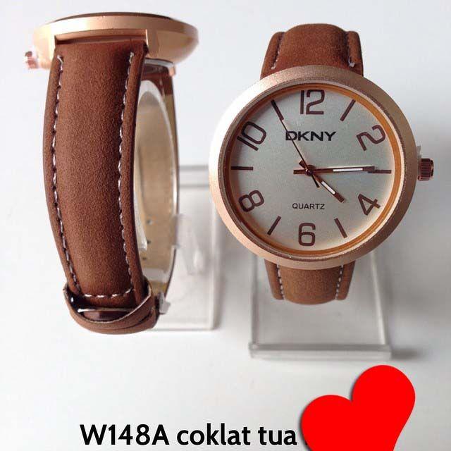 Jam tangan DKNY for ladies Kode barang : W148A coklat tua || Harga 85ribu || Diameter : 3.7cm || Tali : kulit lapis suede || Water resistant: tidak
