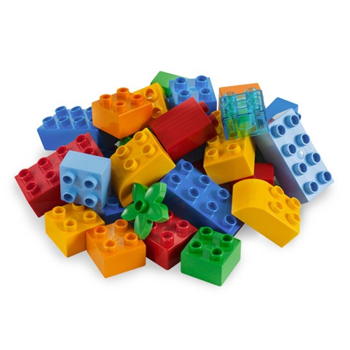 Lego Duplo blocks... they play with these every day.
