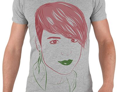 "Check out new work on my @Behance portfolio: ""Girl t-shirt vector portrait"" http://on.be.net/1IpX1bo"