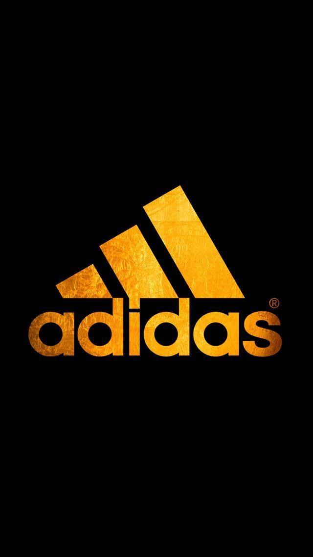 Download Adidas Logo Wallpaper Gold JPG