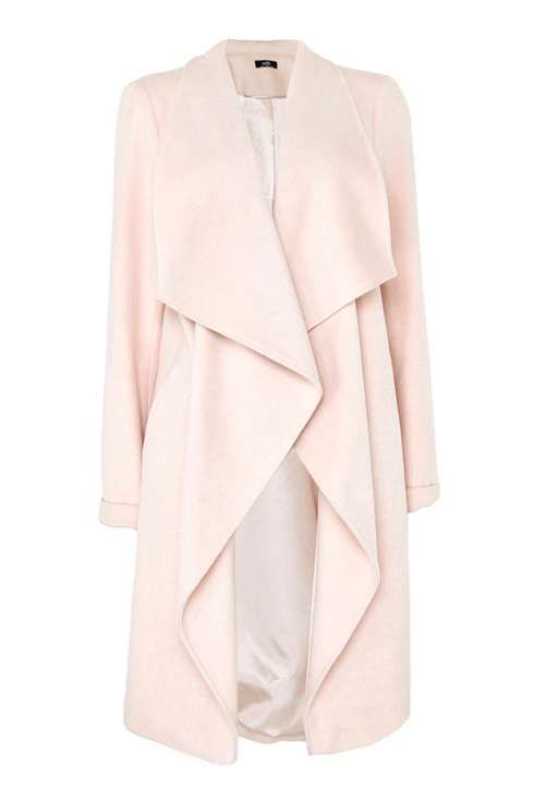 Blush Long Sleeve Waterfall Coat