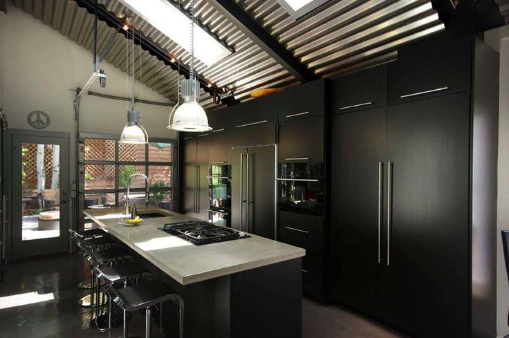 Dramatic Black Kitchen Ideas-09-1 Kindesign