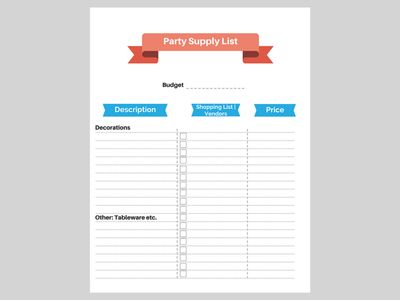 Best  Birthday Party Checklist Ideas On   Party