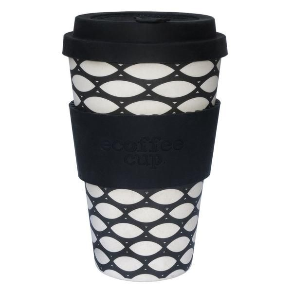 Buy a reusable eCoffee Cup made from organic bamboo fibre - use it as a travel mug and stop the waste caused by millions of disposable takeaway cups