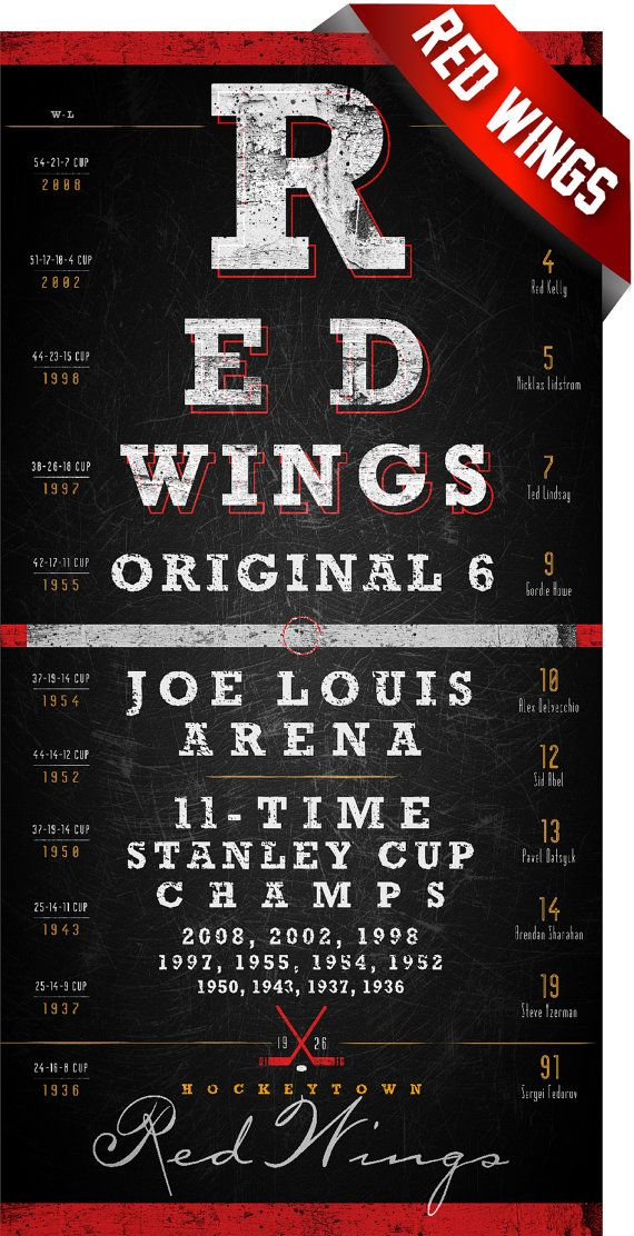 Hey, I found this really awesome Etsy listing at https://www.etsy.com/listing/169215445/detroit-red-wings-center-ice-series-free