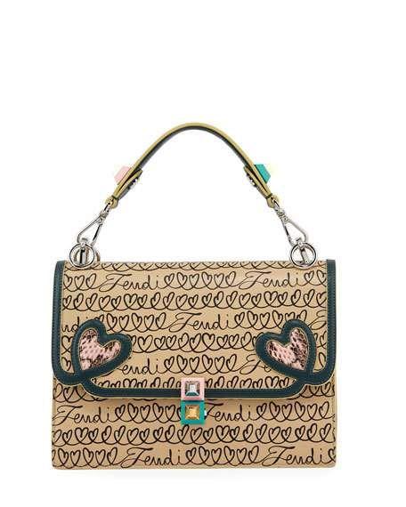 70a7ac8ee5bc Kan I Fendi Love Regular Shoulder Bag by Fendi at Neiman Marcus