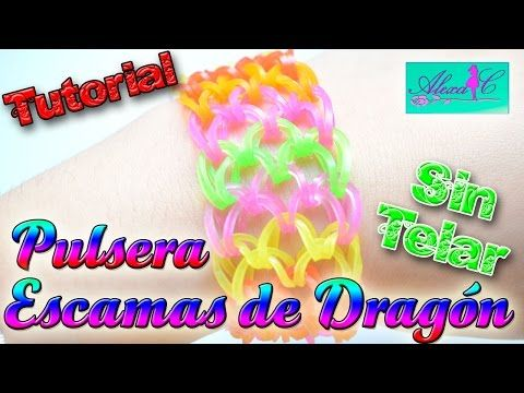 Pulseras de ligas escamas de dragon