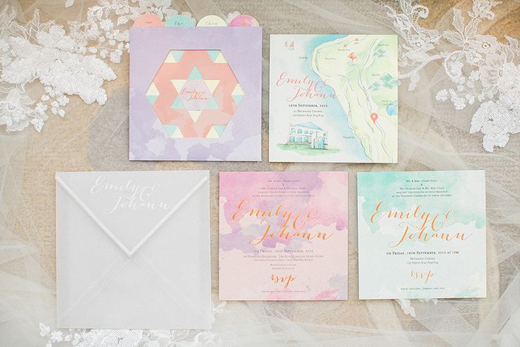 When To Mail Wedding Invitations Emily Post: 1000+ Ideas About Pastel Wedding Invitations On Pinterest