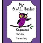 This is a choice of two binder covers with an owl theme.  I use binders in my classroom every year to help to keep my students organized. I made ...