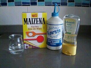 Ingredientes para hacer porcelana fria casera