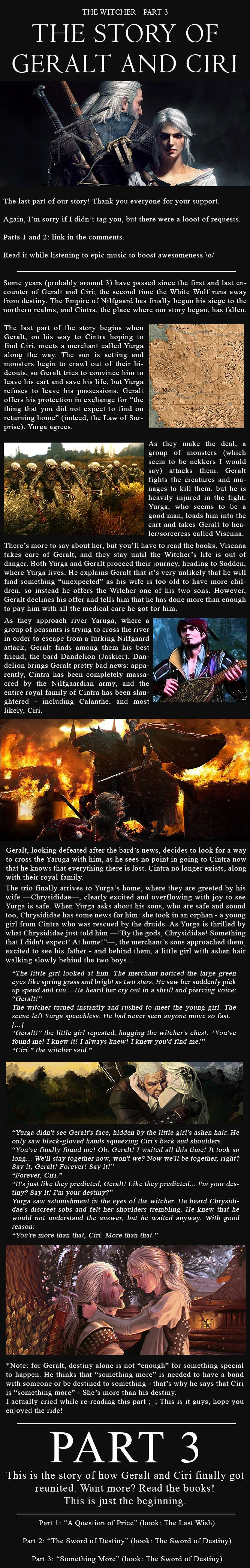 The story of Geralt of Rivia and Ciri - Part 3 - 9GAG