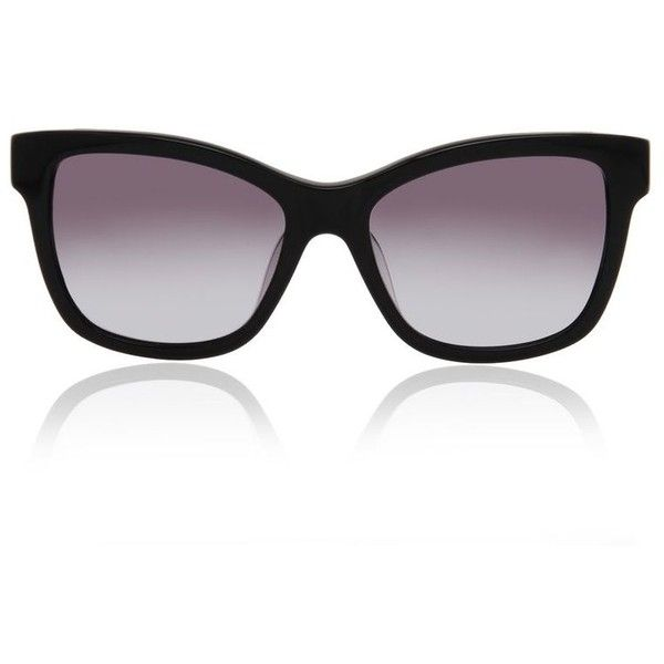 Karl Lagerfeld Rectangle Netting (9.345 RUB) ❤ liked on Polyvore featuring accessories, eyewear, sunglasses, black, lens glasses, two tone lens sunglasses, over sized sunglasses, karl lagerfeld eyewear and rectangular glasses