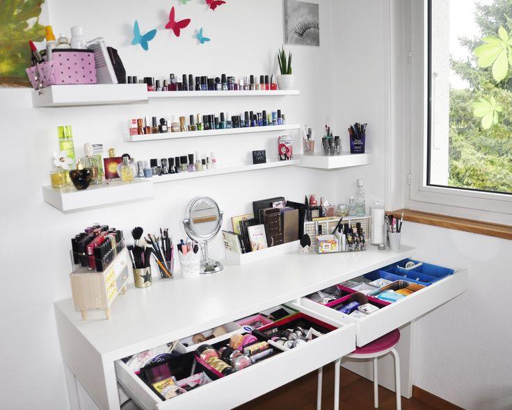 les 25 meilleures id es de la cat gorie meuble maquillage sur pinterest organisation de. Black Bedroom Furniture Sets. Home Design Ideas