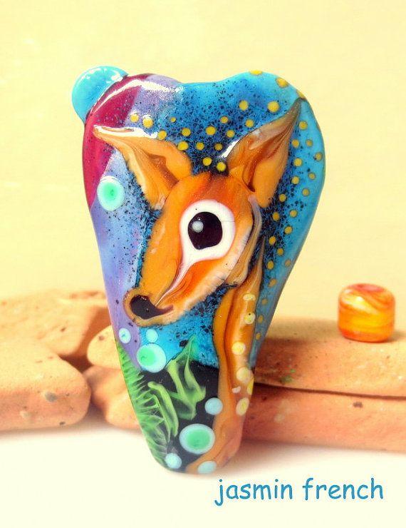 jasmin french u0027 bambi under the stars u0027 lampwork focal beads glass art