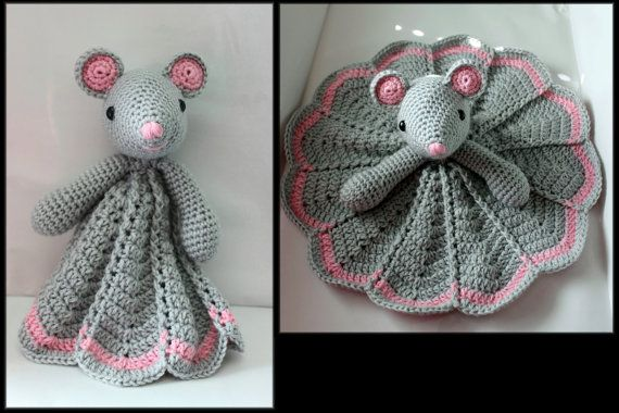 Crochet Mouse Security Blanket by HazelCrochet on Etsy