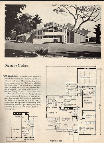 17 best images about mid century mod architecture on for Mid century post and beam house plans