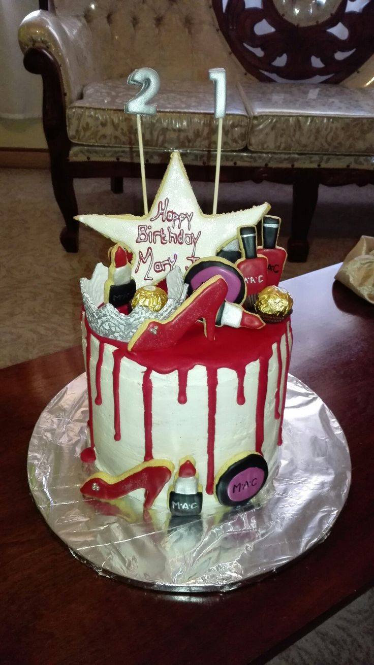 21st Dripcake red and white