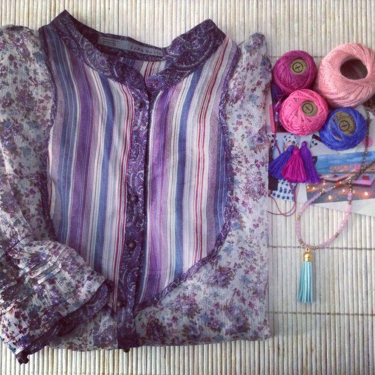 Venta ropa segunda mano. Camisa #zara #segundamano #collar #hechoamano #lzqsr http://loszapatosqueseanrojos.bigcartel.com #secondhand