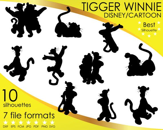 Hey, I found this really awesome Etsy listing at https://www.etsy.com/listing/501582244/10-silhouettes-tigger-tiger-winnie-pooh