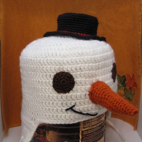 snowman crochet hat CRAFTS TO MAKE Pinterest