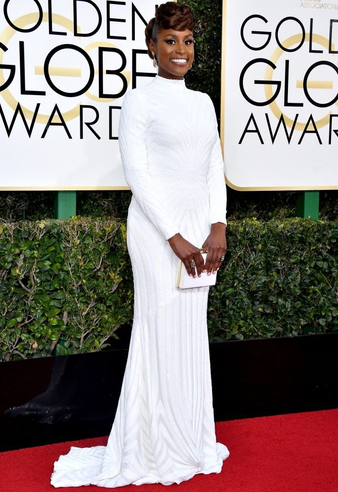 Issa Rae in Christian Siriano - click ahead for more Golden Globes best dresses