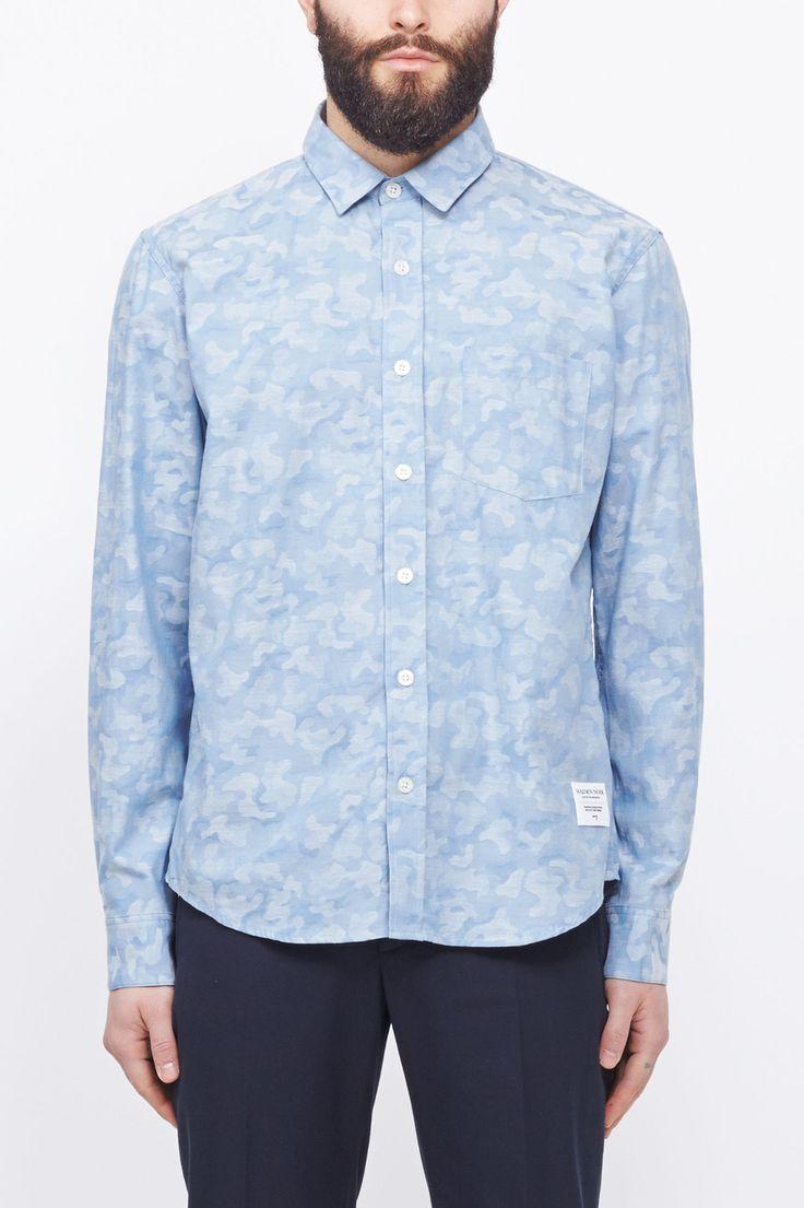 Maiden Noir Camo Jacquard Shirt (Light Indigo)