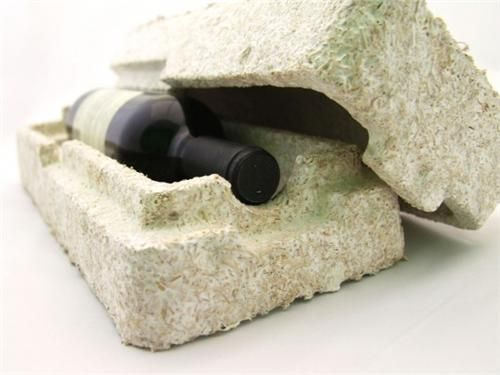 "Mushroom packaging is an alternative made entirely out mycelium, a network of fungal threads that's ""grown"" around a filling of agricultural byproducts. The process takes about a week and takes place in the dark with no requirement for chemicals or even water. Strong and insulating, Mushroom Packaging can be formed into almost any shape. Mycelium can also be used for surfboards, car bumpers and even clothing – and once put in the ground it's fully biodegradable."