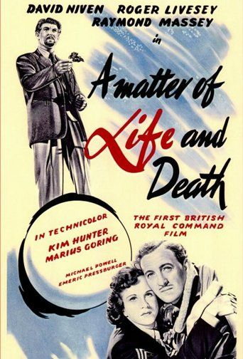 A Matter of Life and Death (1946)   http://www.getgrandmovies.top/movies/9269-a-matter-of-life-and-death   When a young airman miraculously survives bailing out of his aeroplane without a parachute, he falls in love with an American radio operator. But the officials in the other world realise their mistake, and despatch an angel to collect him.