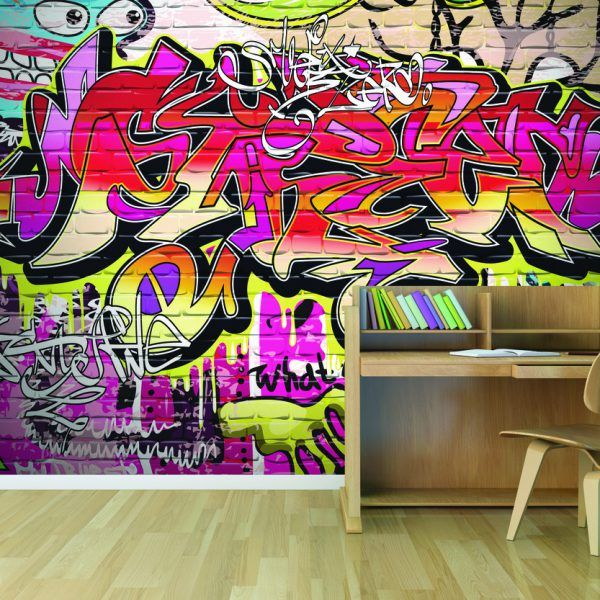 City Graffiti Wallpaper Mural For Creating Cool Feature Wall For Teenagers  Bedrooms