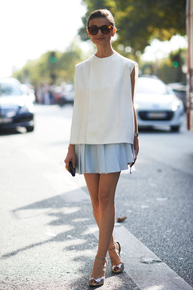 Street Style Paris Fashion Week - Paris Spring 2014 Street Style Photos - Elle (love the top)