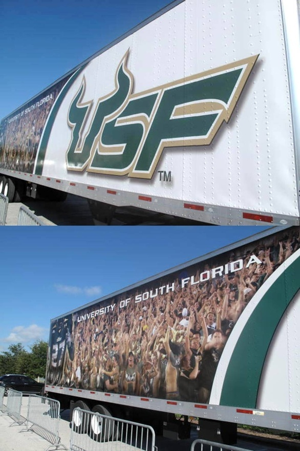 best tailgate time images tailgating south university of south florida bulls equipment transporter for away football games