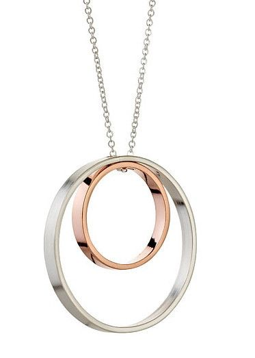 Inner Circle Necklace 122 in Silver and Rose Gold