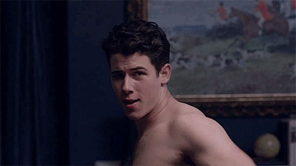 Pin for Later: All the Times Nick Jonas Perfects Scary-Sexy on Scream Queens When He Licks His Lips in Anticipation