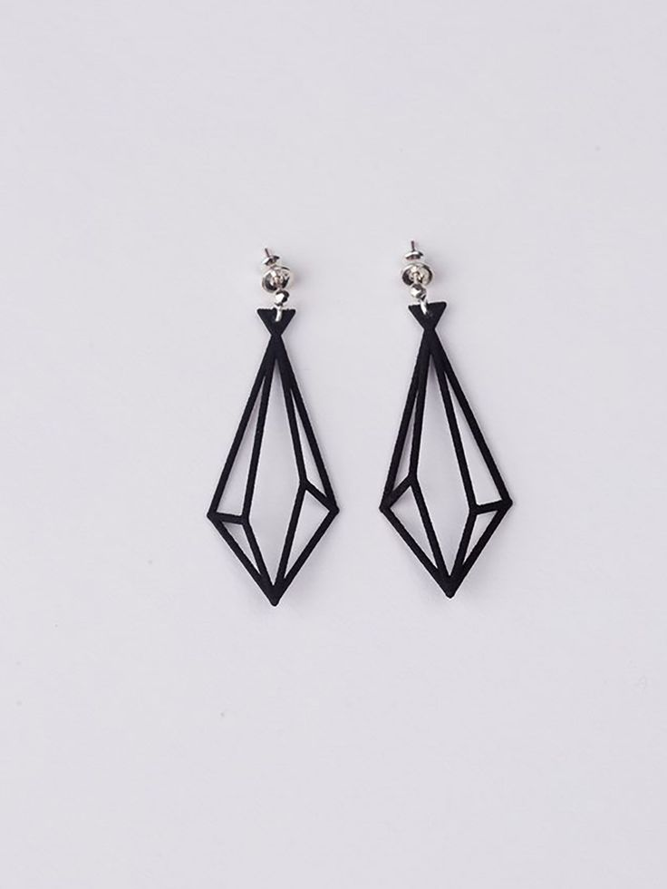 New Geometry 3-D Printed Earrings http://3dprintmastermind.com/category/3d-print-design/