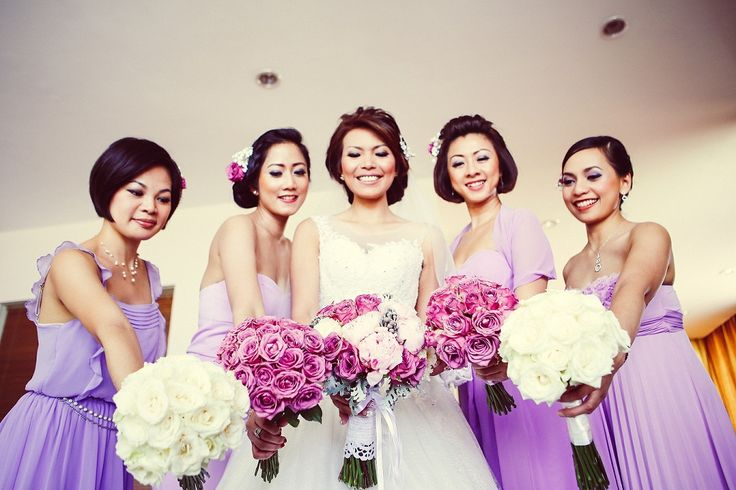 Lovely Bride & her maids
