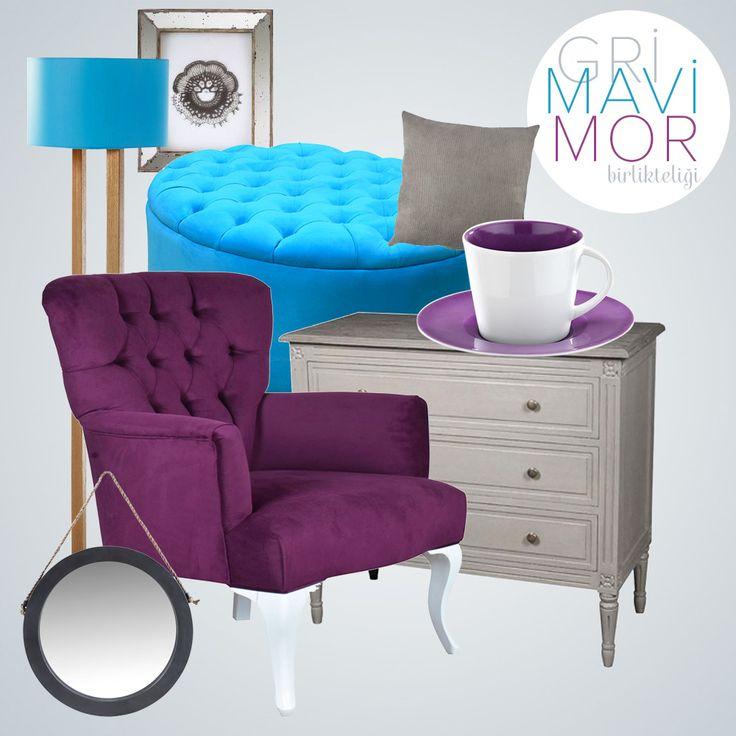 """Dekorasyonlarınızda """"Gri Mavi Mor Birlikteliğine"""" yer açın! #dekorazoncom >> http://www.dekorazon.com/gri-mavi-mor-birlikteligi?utm_source=pinterest&utm_medium=post&utm_content=gri-mavi-mor-birlikteligi"""