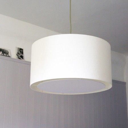 Cream Cotton Ceiling Pendant with Diffuser - Lamp Shades & Diffusers - Lighting Accessories - Lighting