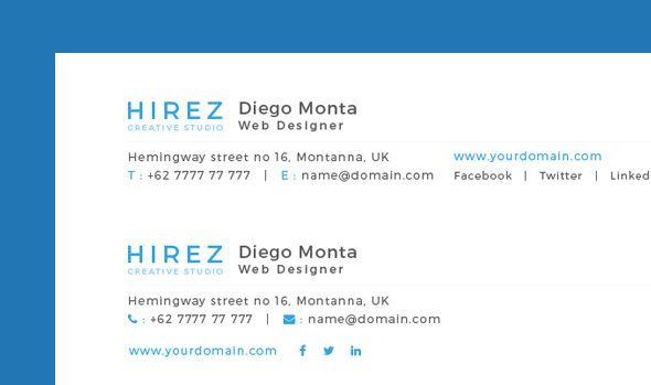 Professional Email Signatures \ Email Signature Generator - email signature template