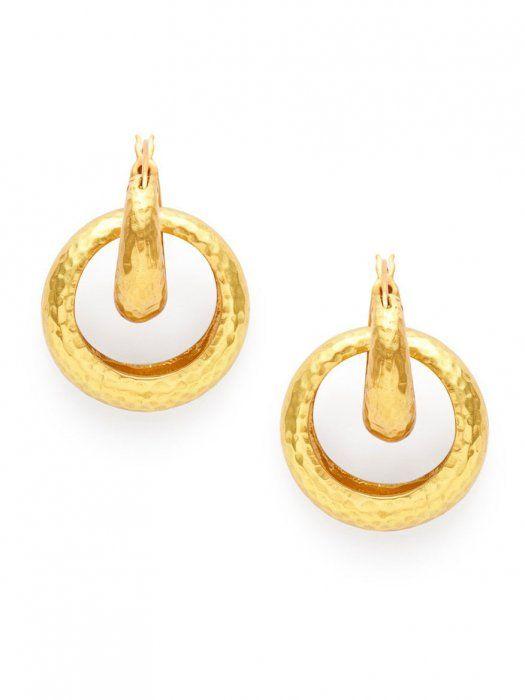 afd26c5441ddc Julie Vos Catalina 2-in-1 Hoop Earring in Gold   Girl Boss   Hoop ...