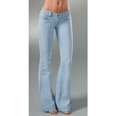 J Brand Lovestory Low Rise Bell Bottom Jeans. I really want a pair of light blue flare jeans..