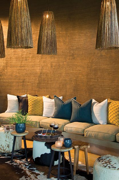 Lounge at Marataba South Africa -- a lovely place with stunning views of the Waterberg Mountains